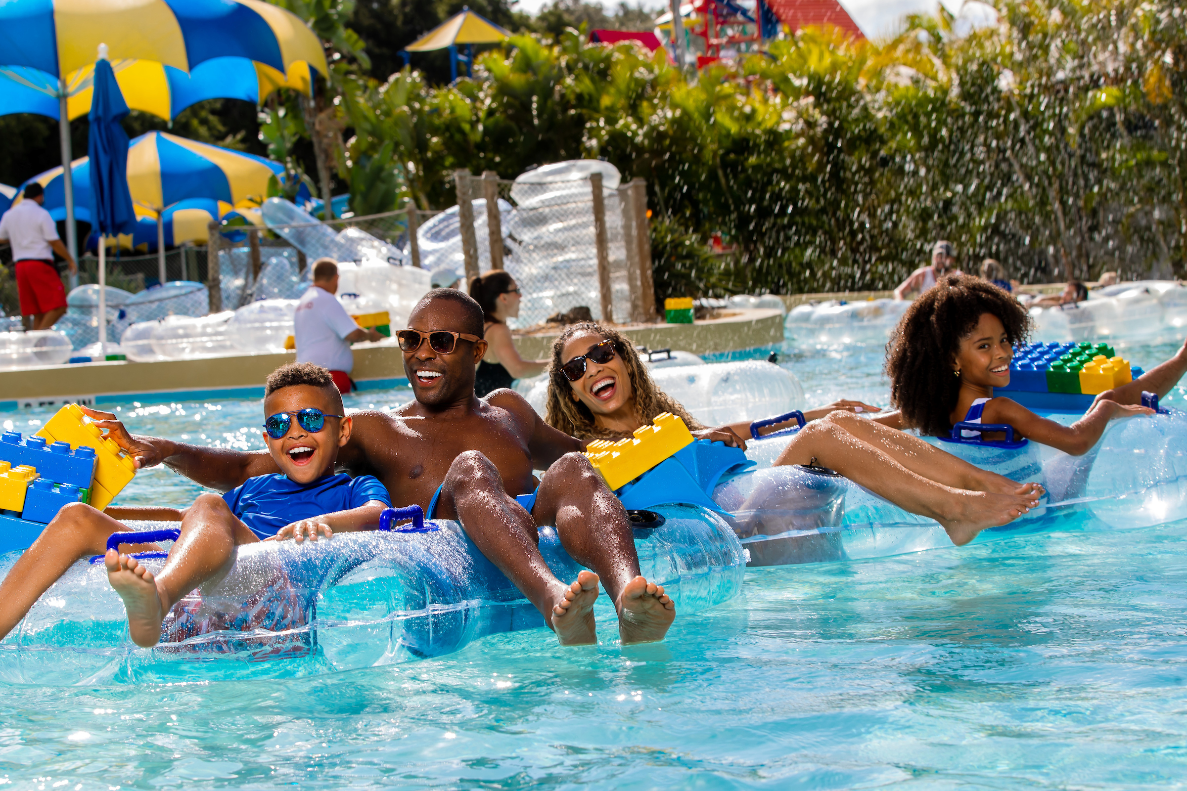 LEGOLAND Water Park Family in tubes
