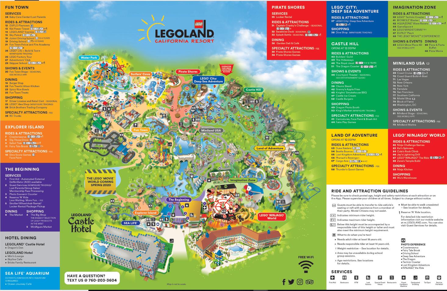 Map Of Legoland Florida LEGOLAND Resort Park Map | LEGOLAND California Resort