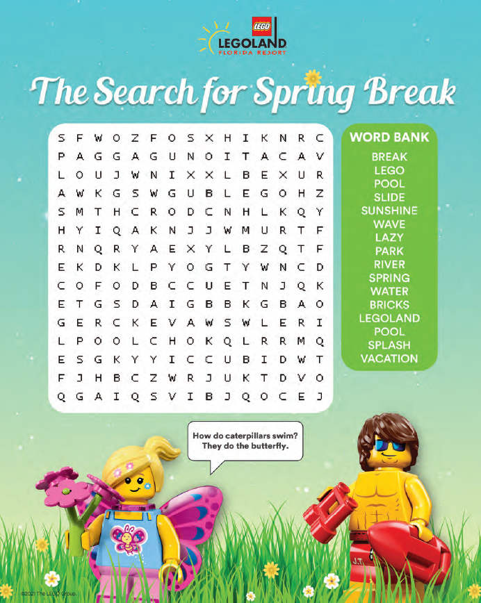Search For Spring Break Activity Page