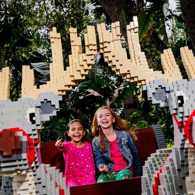 Girls With LEGO Modelsm